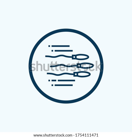 Spermatozoon icon. Thin linear spermatozoon outline icon isolated on white background from health and medical collection. Line vector spermatozoon sign, symbol for web and mobile Stock photo ©