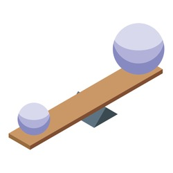 Sphere balance desk icon. Isometric of sphere balance desk vector icon for web design isolated on white background