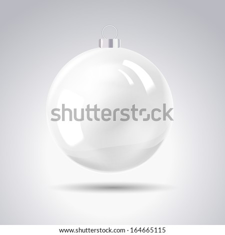 sphere christmas ball vector