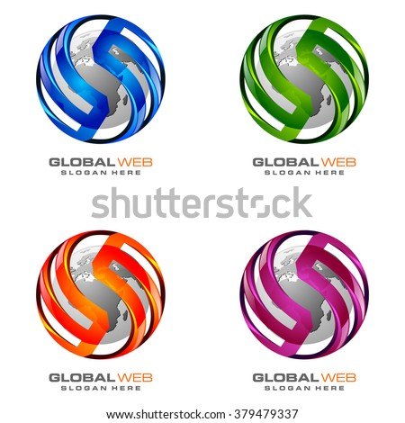 sphere 3d global with vector