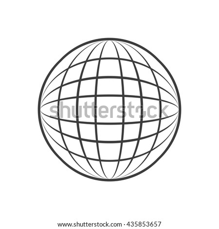 Sphere icon. Sphere Vector isolated on white background. Flat vector illustration in black. EPS 10