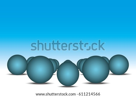 Sphere in prospect. Abstract backgrounds vector illustration EPS 10