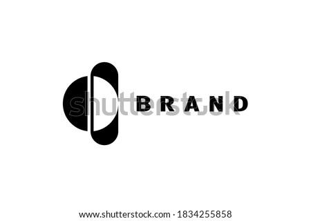Sphere OI logo, Creative and minimalist negative space sphere letter OI logo template, simple flat design. Foto stock ©