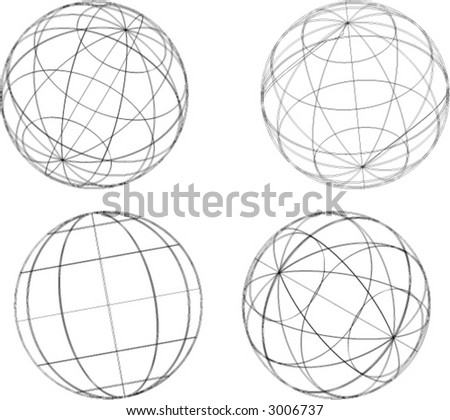 Sphere Outlines Stock Vector Illustration 3006737 ...