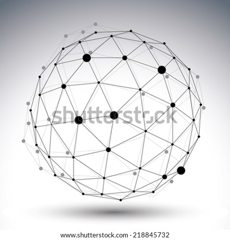 spherical abstract black and...