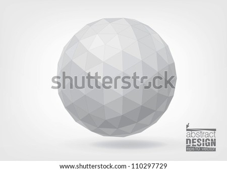 Spherical shape from triangles, you can change colors