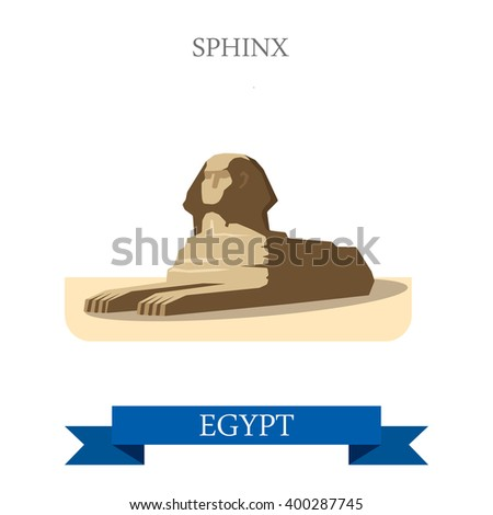 sphinx in cairo egypt flat