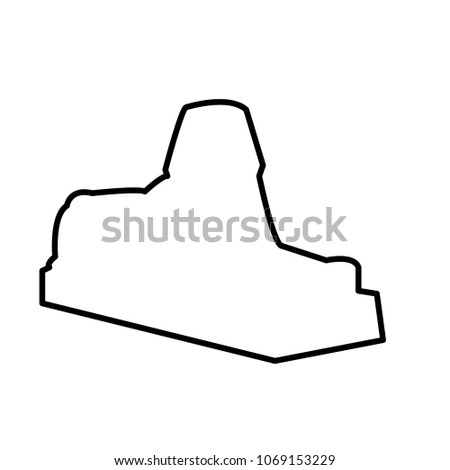 sphinx outline on white