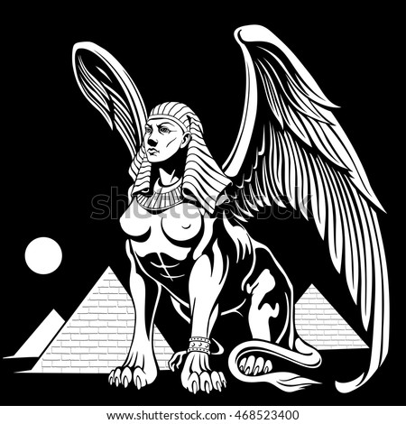sphinx with wings  mythological ...