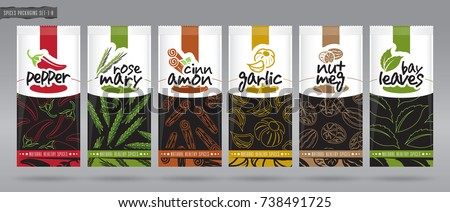 spice packaging set   2