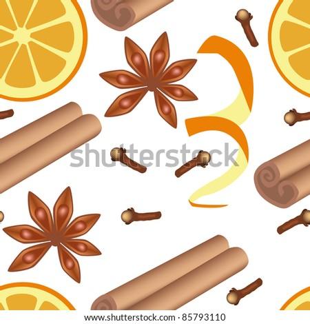 spice seamless pattern