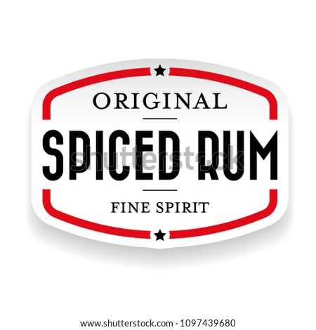 Spiced Rum vintage stamp
