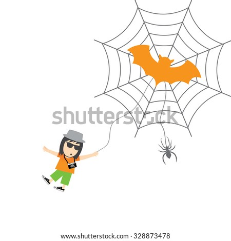 spider and man vector cartoon