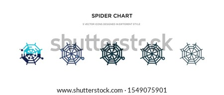 spider chart icon in different