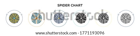spider chart icon in filled