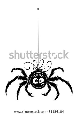 spider contour   simple black