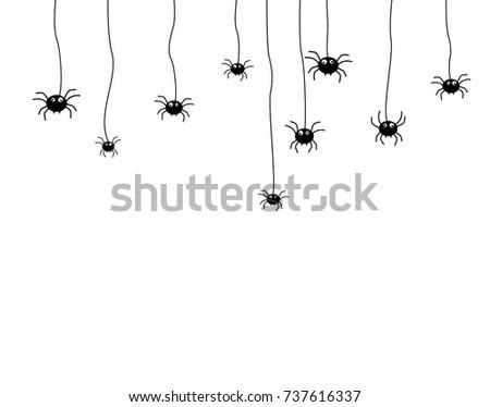 spider Halloween, Vector  on white background #737616337