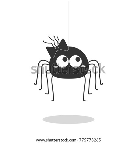 spider hanging vector isolated