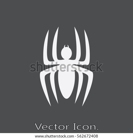 spider icon isolated sign
