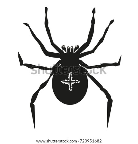 spider illustration garden...