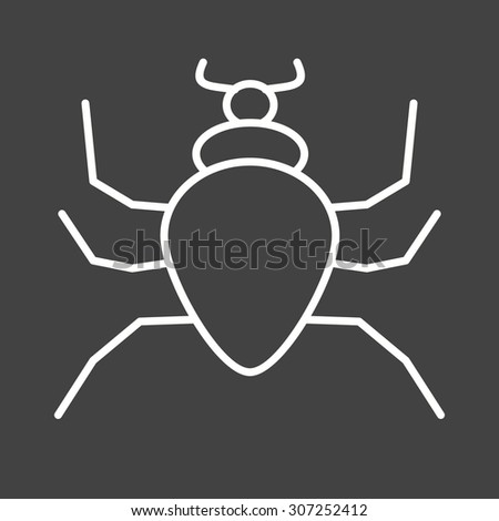 Spider, insect icon vector image. Can also be used for Animals and Insects. Suitable for mobile apps, web apps and print media.