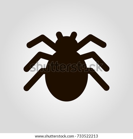 Spider isolated flat vector icon