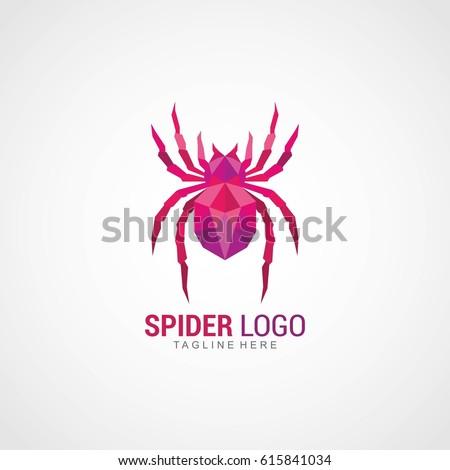 spider logo design template