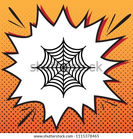 spider on web illustration