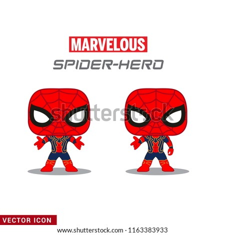 Spider Super-Hero Cute little character