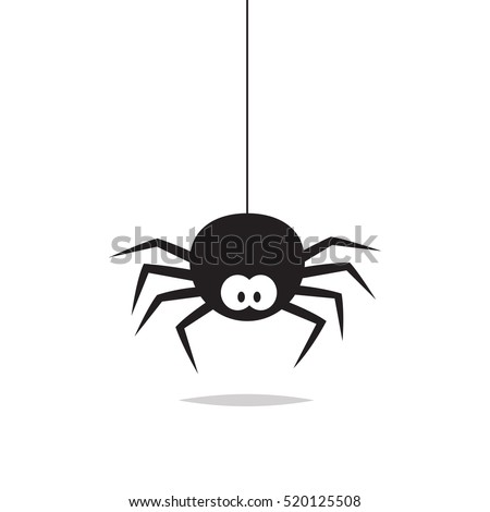 spider vector isolated