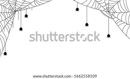 Spider Web Halloween Background Vector