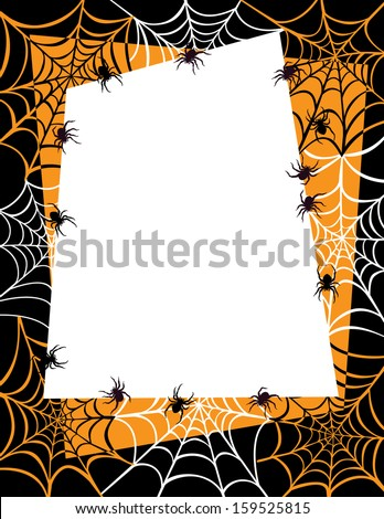 Spider Web Halloween Background with area for text.