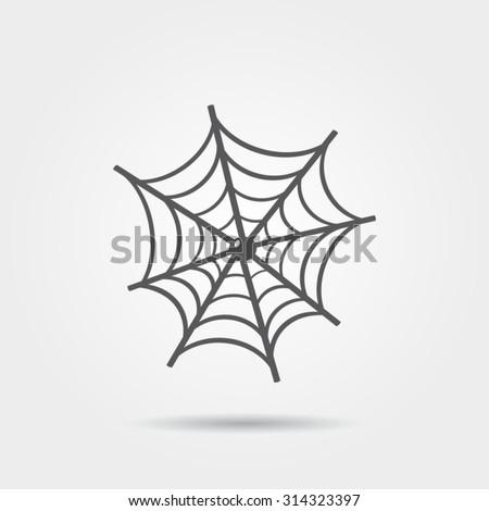 Stock Photo Spider web icon