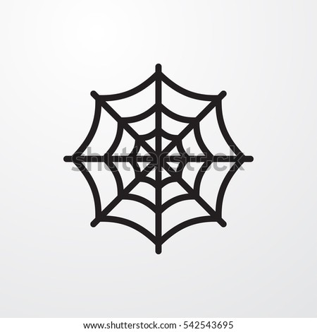 spider web icon illustration isolated vector sign symbol