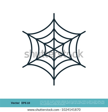 Spider Web Icon Vector Logo Template