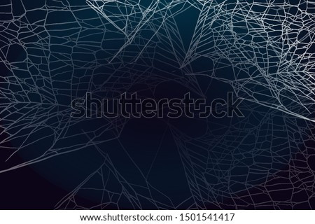Spider web silhouette on dark background. Halloween theme dark background