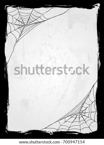 spider web vector frame vector