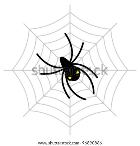 Spider web. Vector illustration.