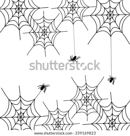 spiders and cobwebs, Illustration Background