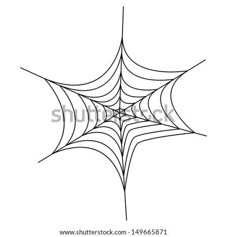 spiderweb black isolated on