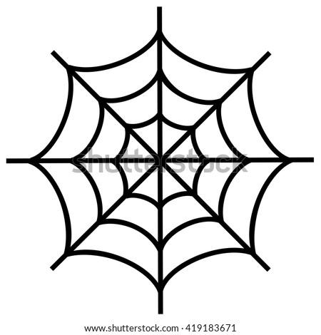 spiderweb icon isolated on