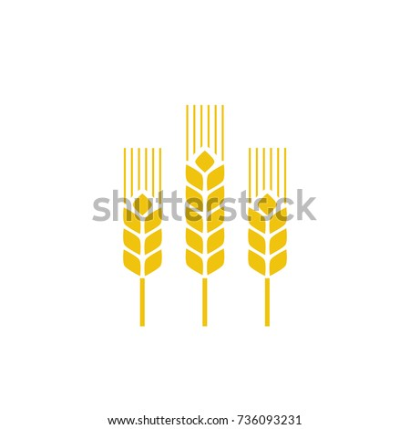 Spike icon. Agriculture, natural, harvest symbol and illustration