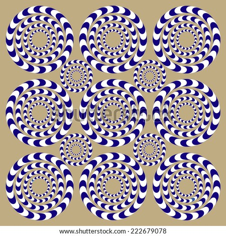 spin circles  illusion