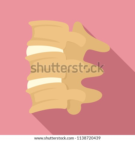 Spinal column discs icon. Flat illustration of spinal column discs vector icon for web design
