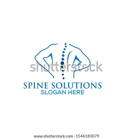 Spine care, spine Solutions , spine medicine logo template