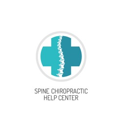 Spine chiropractic, diagnostic and help center logo template