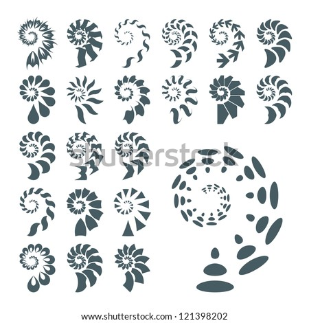 SPIRAL. Abstract vector illustration.