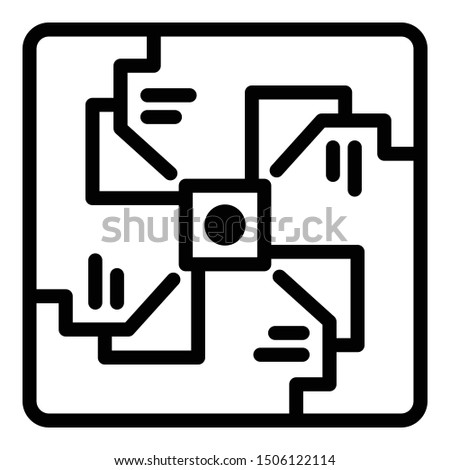 Spiral alchemy icon. Outline spiral alchemy vector icon for web design isolated on white background