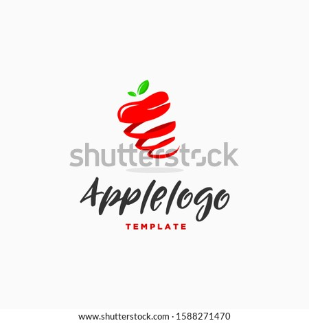 spiral apple logo design