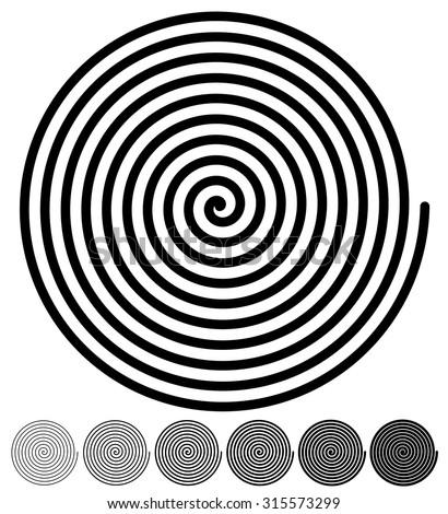 spiral backgrounds set of 4
